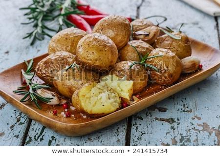 baked potatoes with garlic stock photo © melnyk