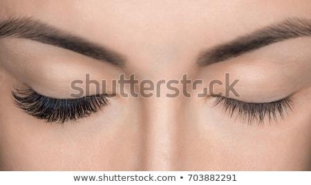 Woman Eyes with Long Eyelashes. Eyelash Extension. Lashes. Stock photo © adamr