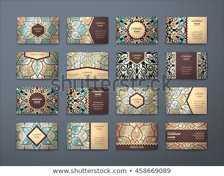 Prémium szett mandala kártya dizájnok absztrakt Stock fotó © SArts