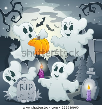 Halloween image with ghosts theme 4 Stock photo © clairev
