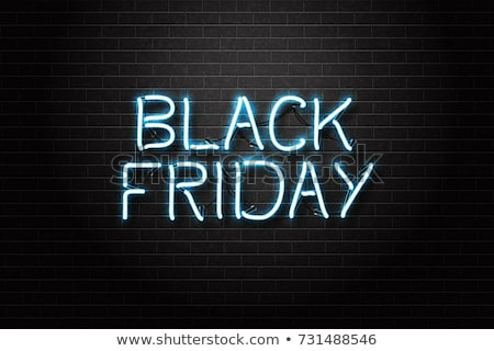 black · friday · vente · néon · Shopping · promotion · affaires - photo stock © Anna_leni