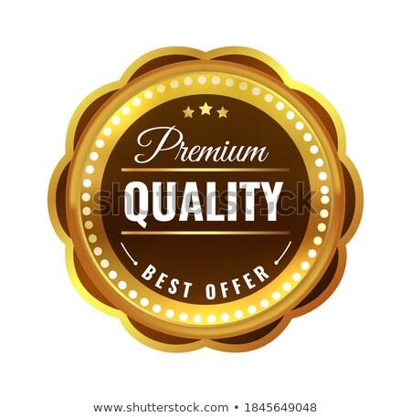 prime · qualité · étiquettes · or · laurier · meilleur - photo stock © robuart