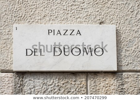 Street sign of piazza del Duomo in Milan, Italy Stock photo © boggy
