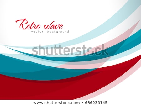 Modern Abstract Cover Poster Vector. Colorful Wave Lines. Flyer, Cover, Brochure. Illustration Stock photo © pikepicture