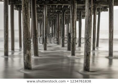 釣り 桟橋 ビーチ サンタクロース カリフォルニア 米国 ストックフォト © yhelfman