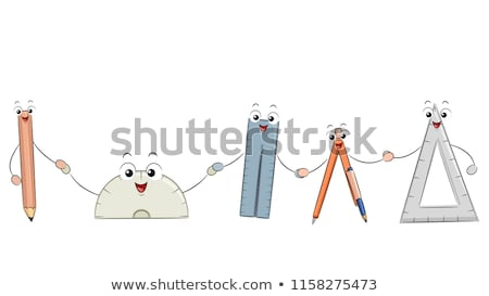 Math Tools Mascots Illustration Stock photo © lenm