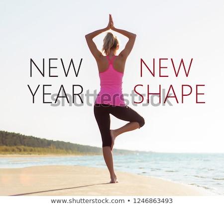 Viver fitness escrita beber exercer alimentação Foto stock © Zerbor