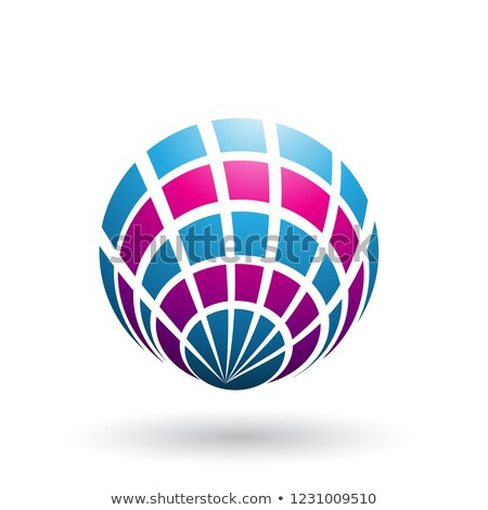 Magenta Blauw shell zoals icon vector Stockfoto © cidepix