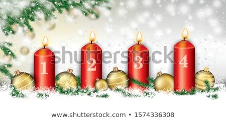 Natale · congelato · nevicate · star · rosso · carta - foto d'archivio © limbi007