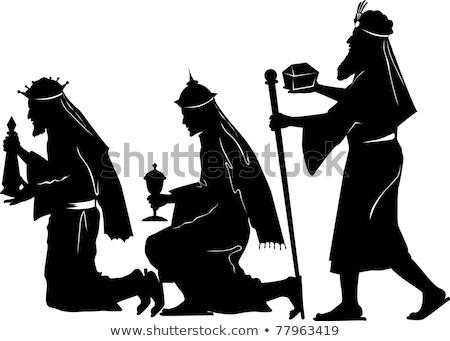 Stock photo: Frankincense Myrrh And Gold Magi Offerings