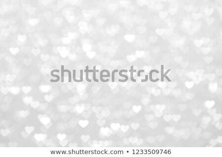 Homályos fehér szívek dekoráció absztrakt Valentin nap Stock fotó © alexaldo