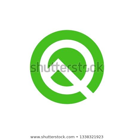 letter q vector icon green logotype stylized symbol Stock photo © blaskorizov