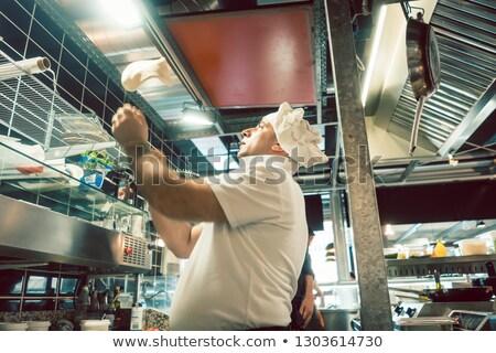 pişirmek · pizza · dilimleri · jambon · gıda · adam - stok fotoğraf © kzenon