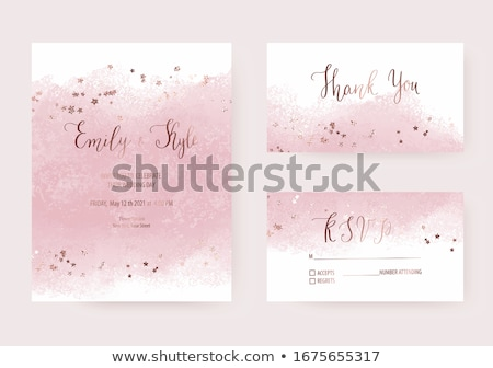 Roses delicate background watercolor Vector. Wedding invitation card. Save the date. Spring summer d Stock photo © frimufilms