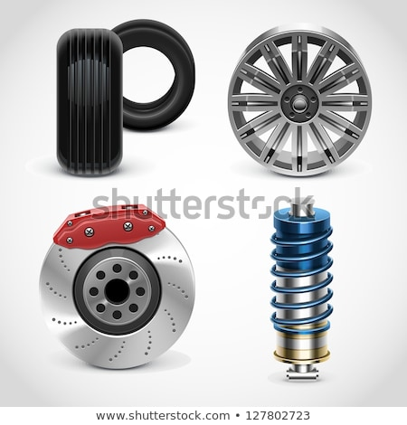 vector car parts set 1 stock photo © dashadima