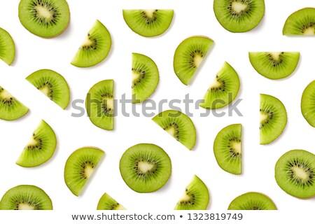 many fresh Kiwi fruits Stock photo © LianeM