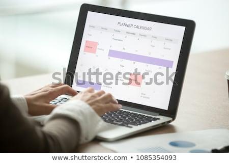 Strony harmonogram dziennik kalendarza biały biurko Zdjęcia stock © AndreyPopov