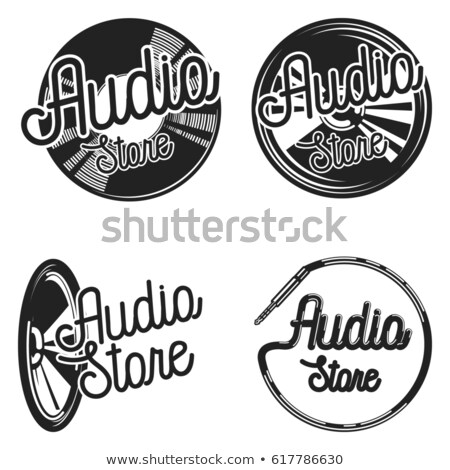 Vintage аудио магазине музыку магазин Сток-фото © netkov1