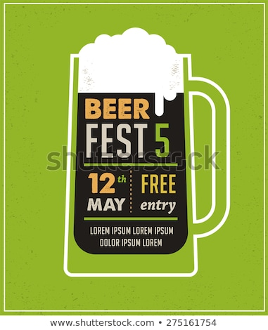 Beer festival, event poster, menu and background Stock photo © marish