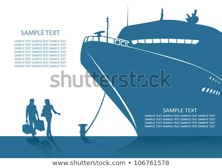 Couples Relaxing on Cruise Ship, Travel Vector Stock photo © robuart