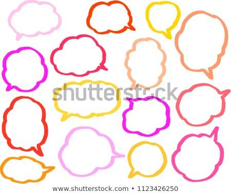 Meleg szín szöveglufi vonal szett felhő Stock fotó © Blue_daemon