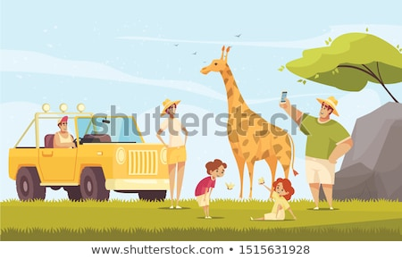 Journey in Vehicle, People Making Photos Vector Stock photo © robuart