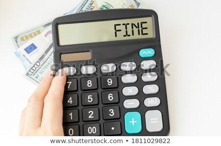Hesap makinesi kelime dolandırıcılık göstermek finanse nakit Stok fotoğraf © Zerbor