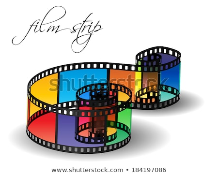 Filmstrip For Old Video Camera Color Vector Stock photo © pikepicture