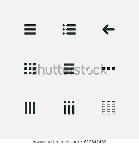 hamburger icon design vector illustration Stock photo © nezezon