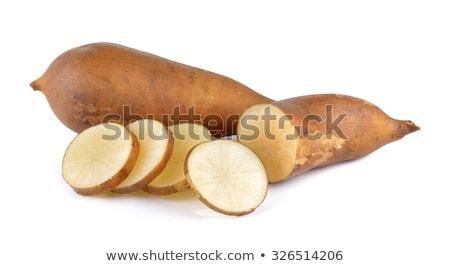 Fraîches racines blanche manger studio Photo stock © joannawnuk