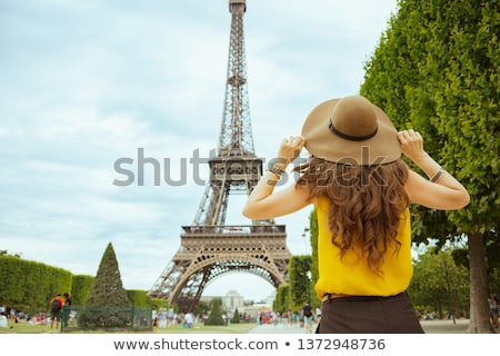 Eiffel tour woman yellow Stock photo © Lopolo