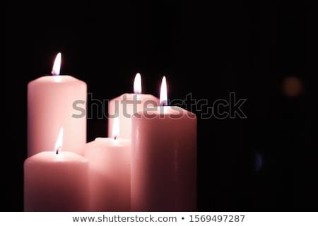 Aromatic pink floral candles set at night, Christmas, New Years  Stock photo © Anneleven