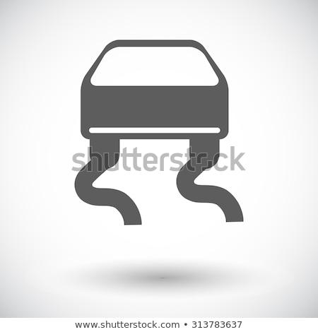 ícone branco carro abstrato arte beber Foto stock © smoki