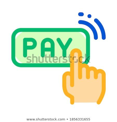Bir tıklayın dokunmayın ödeme vektör ince Stok fotoğraf © pikepicture