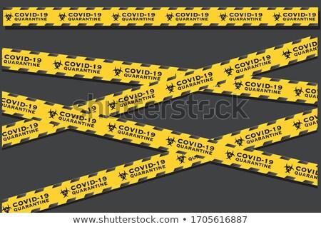 Coronavirus COVID-19 Caution Tape Illustration Stock photo © enterlinedesign