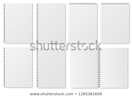 realistic blank dotted lines paper sheet set Stock photo © SArts