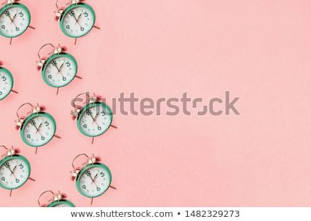 Opslaan tijd Rood alarm klokken witte Stockfoto © make