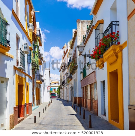 house's detail, Seville, Andalusia, Spain Stock photo © phbcz