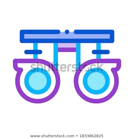 Linsen Symbol Vektor Gliederung Illustration Zeichen Stock foto © pikepicture