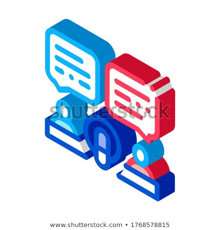 Hosts Talk In Microphone isometric icon vector illustration Stock photo © pikepicture
