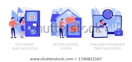 Electronic queuing system concept vector illustration Stock photo © RAStudio