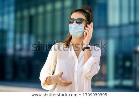mulher · atraente · sardas · ao · ar · livre · mulher · cara · moda - foto stock © nobilior