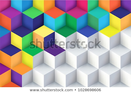 3D Cubes colored abstraction Stock photo © FransysMaslo
