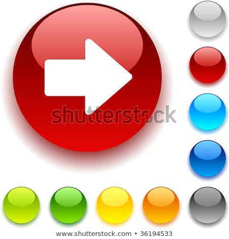 Stock photo: the blue ball with the red arrow