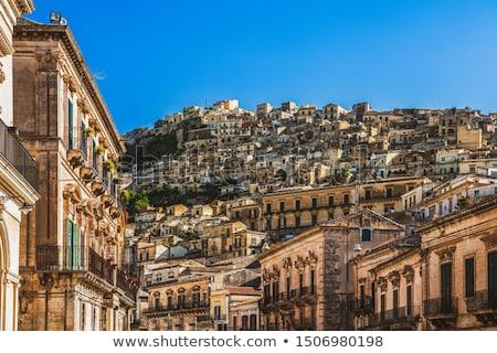 Cidade velha sicília casas edifícios urbano casas Foto stock © travelphotography