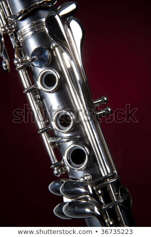 Clarinet Isolated Red Spotlight stock photo © mkm3