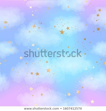 シームレス · 雲 · 青空 · パターン · ラベル · 空 - ストックフォト © zsooofija
