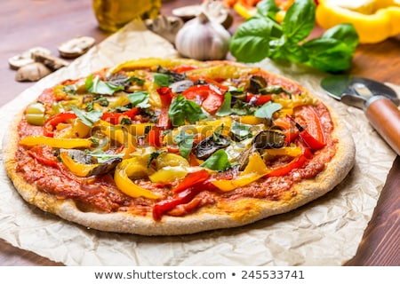Pizza with vegetables Stock photo © shamtor