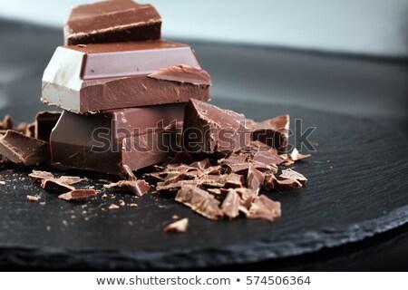 Delicious dark and milk chocolate Stock photo © designsstock