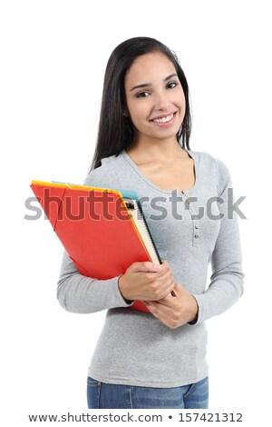 Vrouwelijke student mappen kantoor werk Stockfoto © photography33
